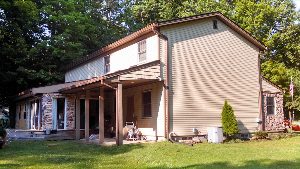 Side view of the house under renovation