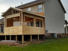 Another outside view of the addition