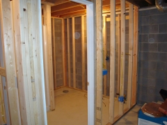 shower under construction