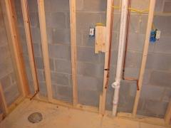 bathroom pipes