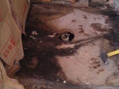 damaged bathroom