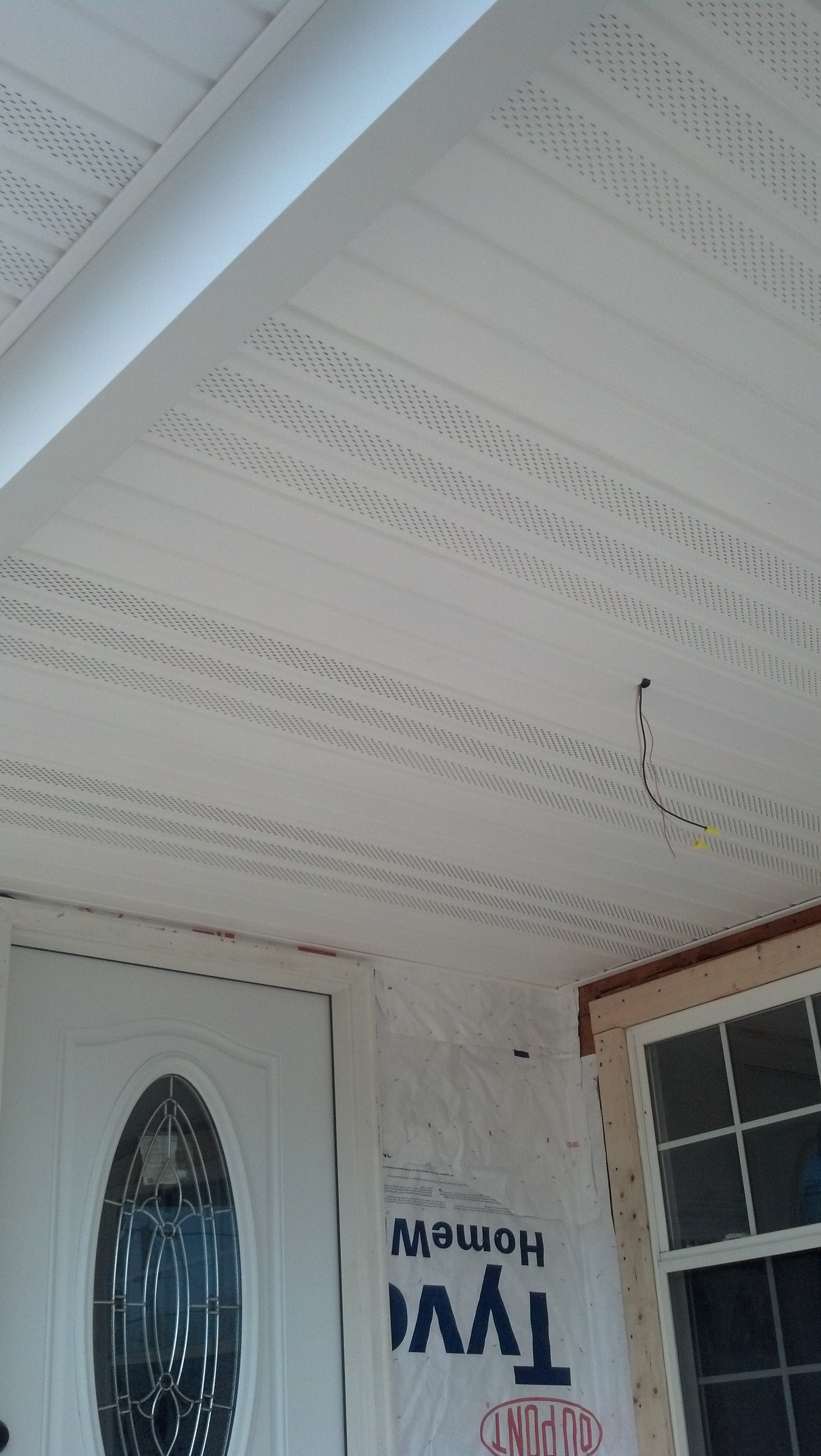 garage entrance roof