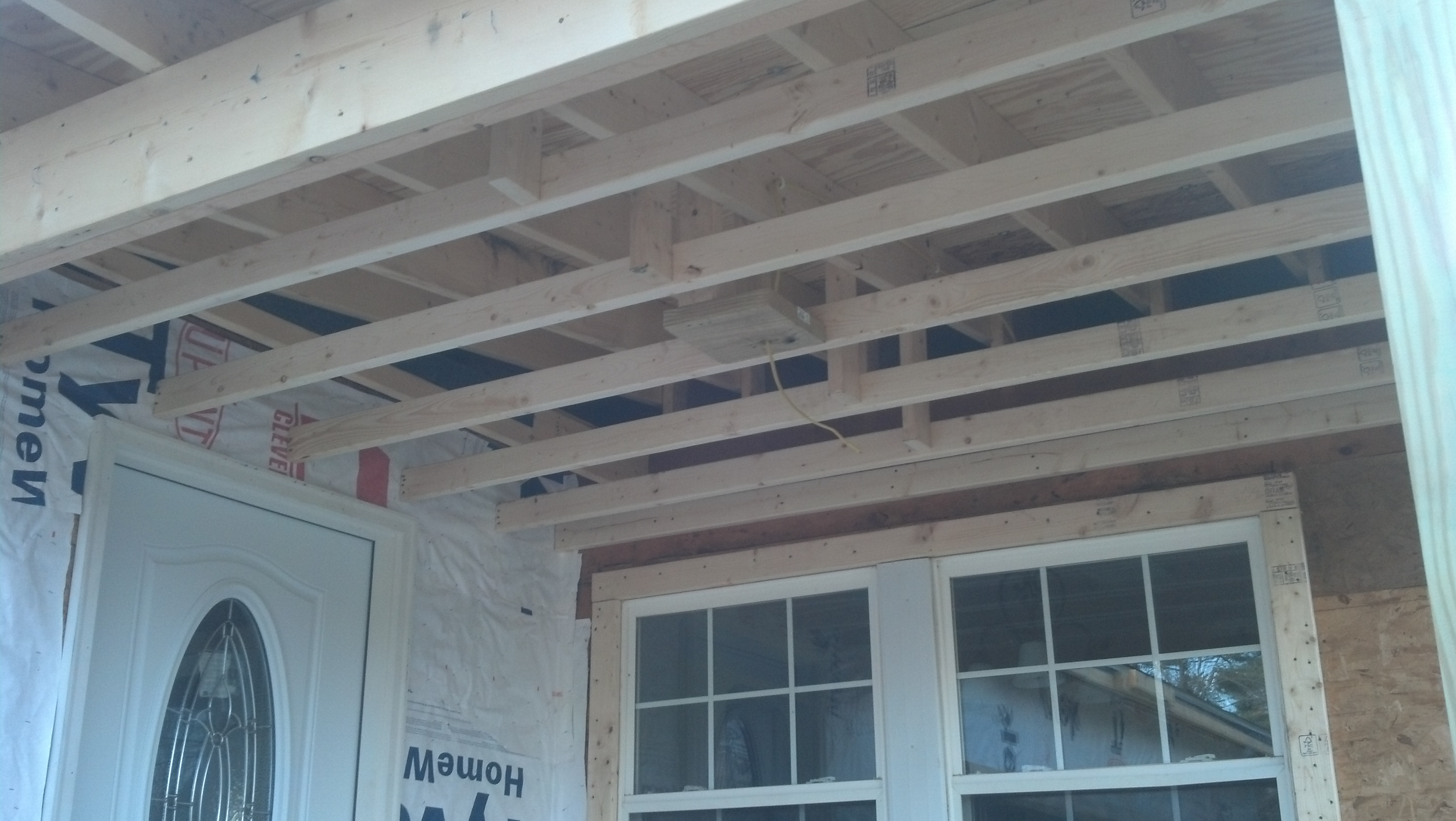 garage roof under construction