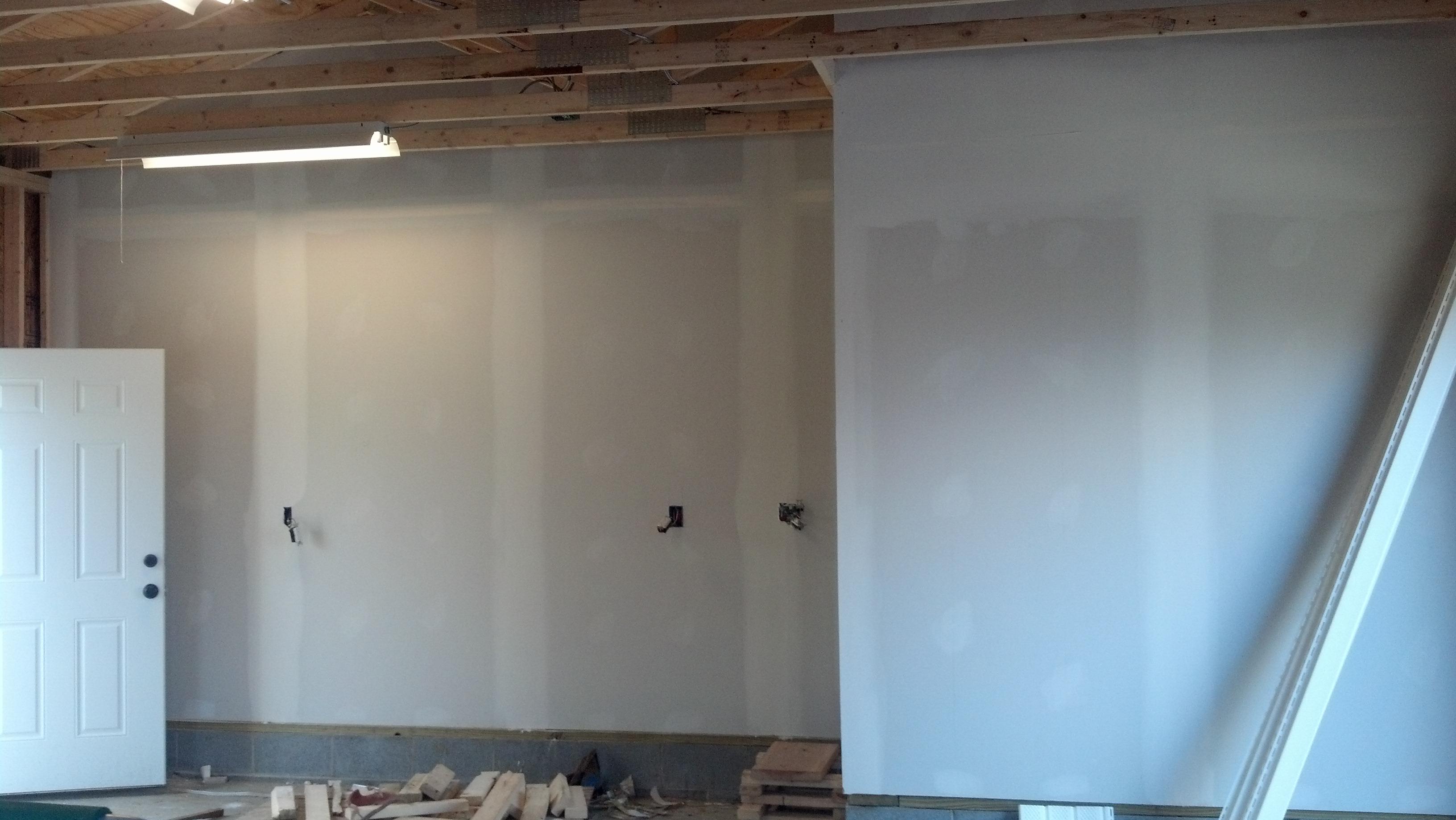 garage interior under construction