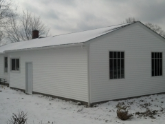 outside view of repainted garage