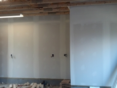 garage interior under construction