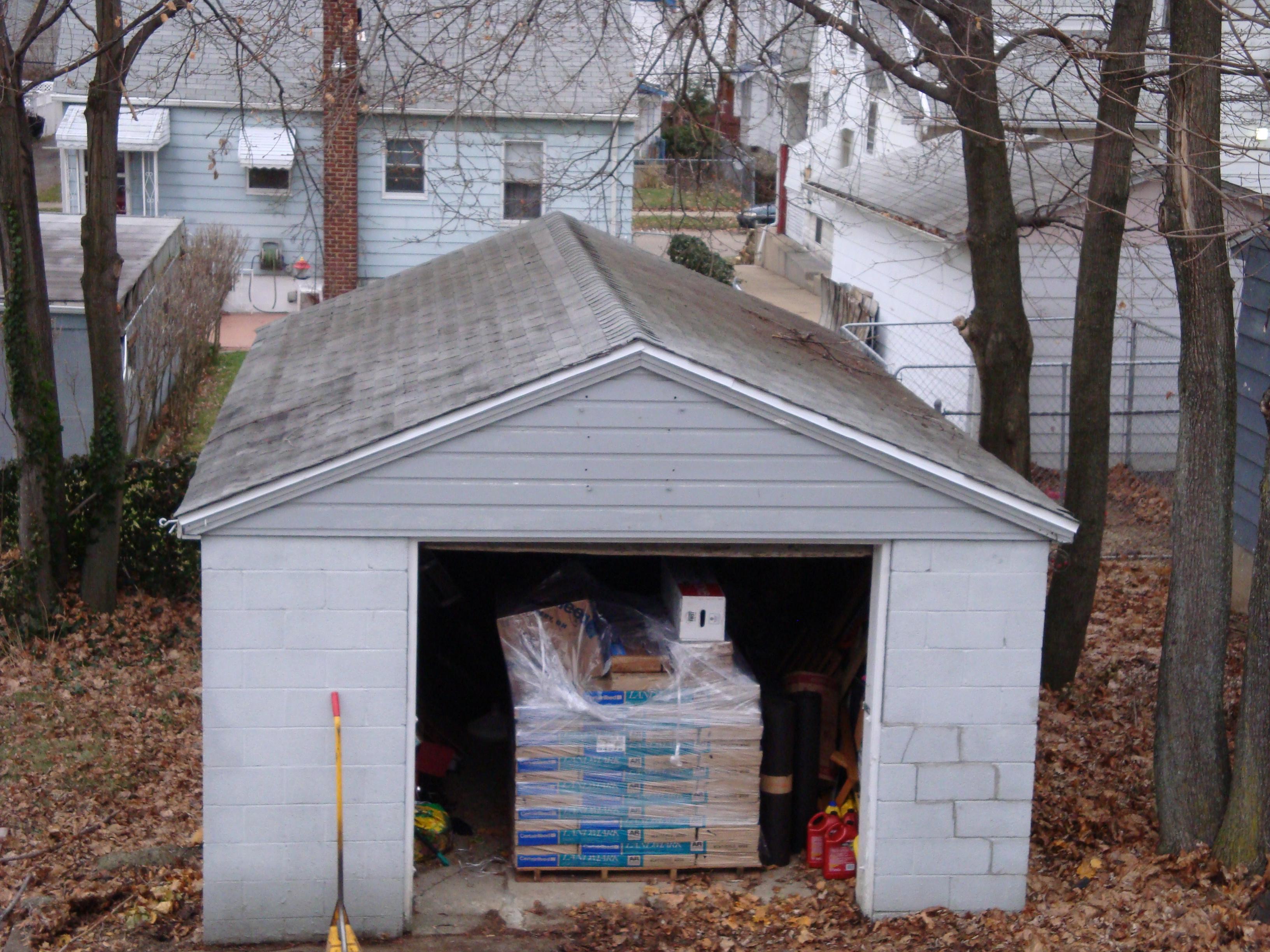 old garage roof