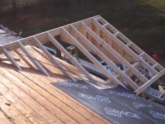 New gable built on roof