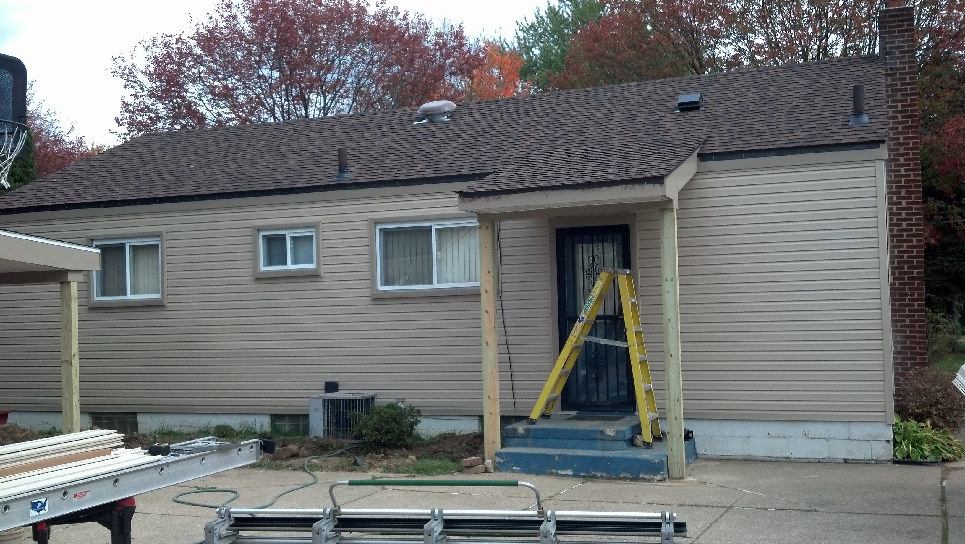 finished exterior siding