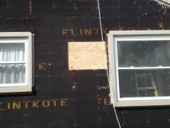 siding being repaired